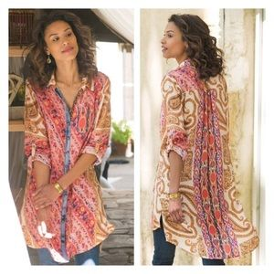 Soft Surroundings Brynn Boho/peasant  tunic top